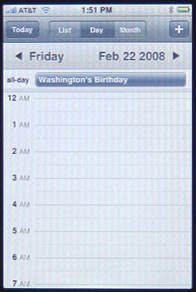 iPhone Calendar Day View