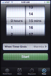 iPhone Clock Timer