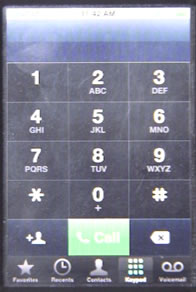 iPhone Phone Keypad