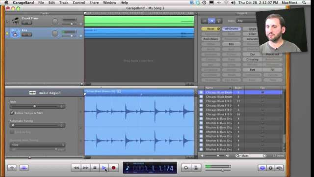 MacMost Now 470: Groove Matching and Flex Time in GarageBand 11