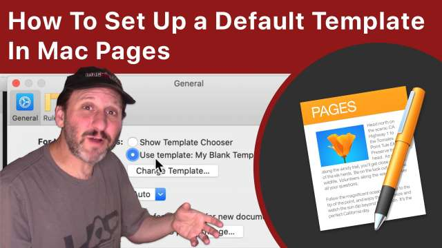 How To Set Up a Default Template In Pages