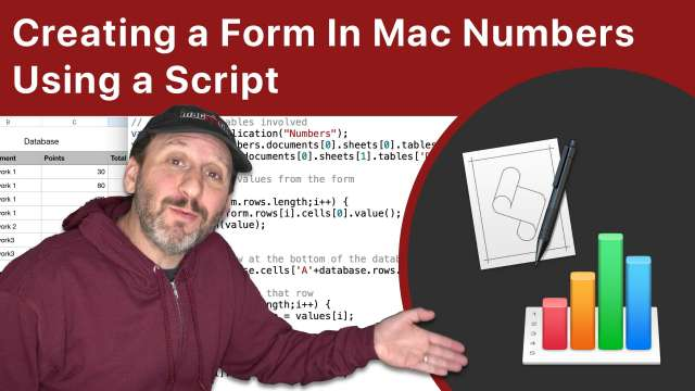 Creating a Form In Mac Numbers Using a Script