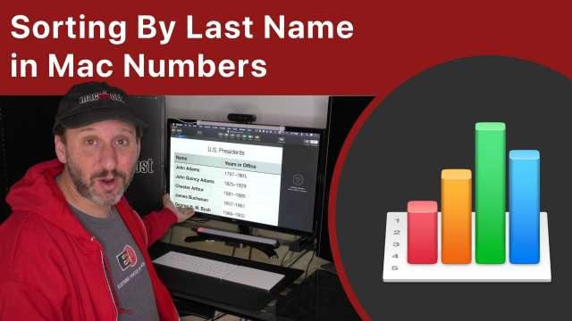 Sorting By Last Name in Mac Numbers