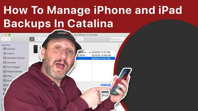 How To Manage iPhone and iPad Backups In macOS Catalina