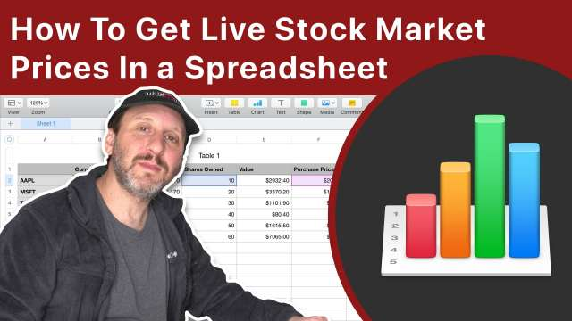 How To Get Live Stock Market Prices In a Spreadsheet On Your Mac