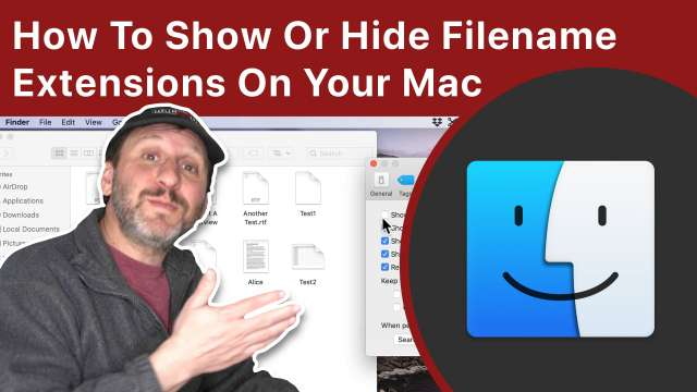 How To Show Or Hide Filename Extensions On Your Mac