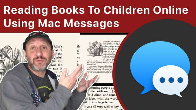 Reading Books To Children Online Using Mac Messages