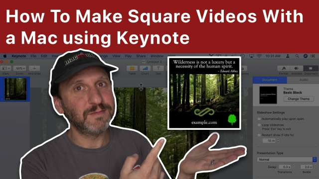 How To Make Square Videos With a Mac