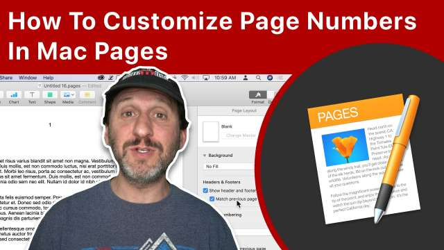 How To Customize Page Numbers In Mac Pages