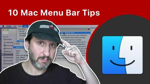 10 Mac Menu Bar Tips