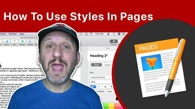 How To Use Styles In Pages