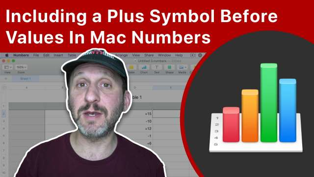 Including a Plus Symbol Before Values In Mac Numbers