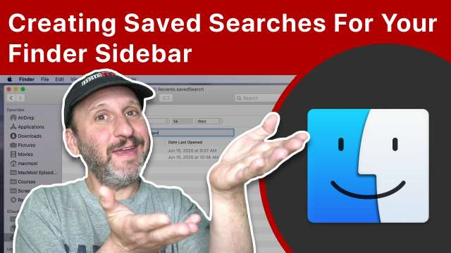 Creating Convenient Saved Searches For Your Mac Finder Sidebar