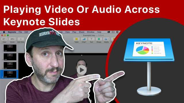 Playing Video Or Audio Across Keynote Slides