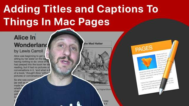 Adding Titles and Captions To Things In Mac Pages