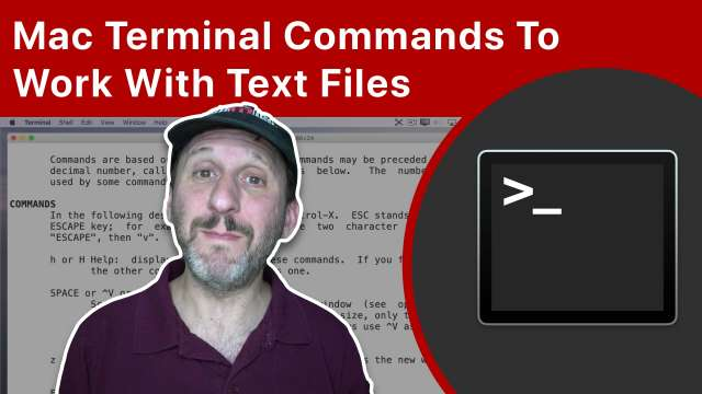 Mac Terminal Commands and Apps To Work With Text Files
