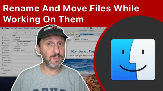 Rename And Move Files While Working On Them On Your Mac
