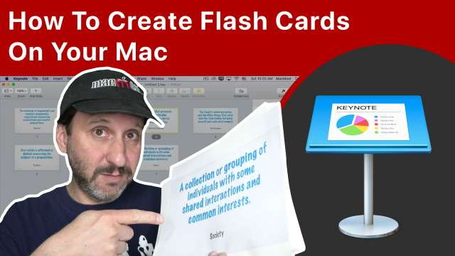 How To Create Flash Cards On Your Mac