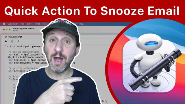 Build an Automator Quick Action To Snooze Email