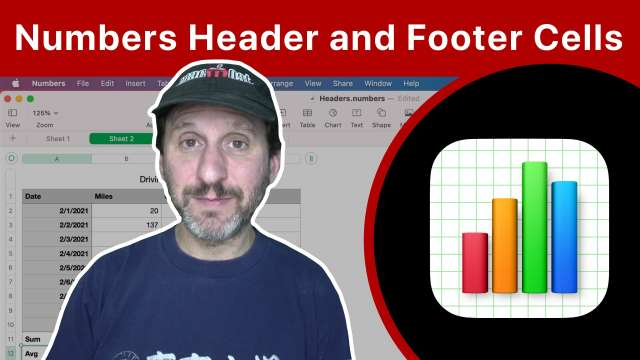 Proper Use of Header and Footer Cells In Numbers