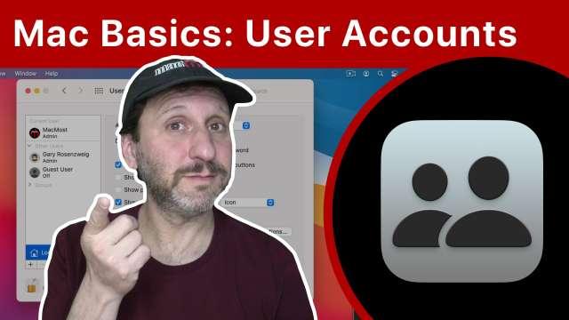 Mac Basics: User Accounts