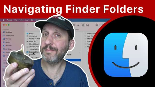 Navigating Around In the Finder On a Mac