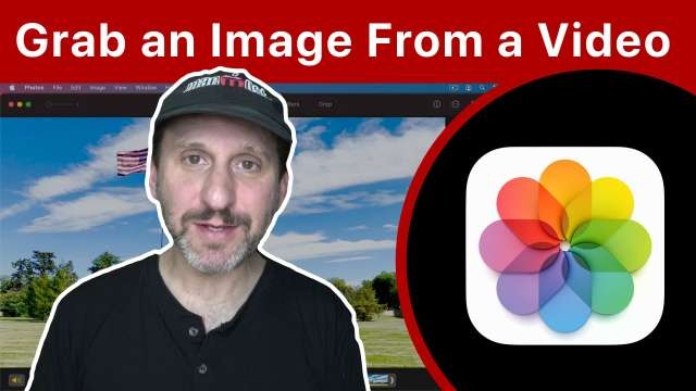 How To Grab a Frame From a Video In Mac Photos