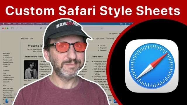 Change How Web Pages Look With Safari Custom Style Sheets
