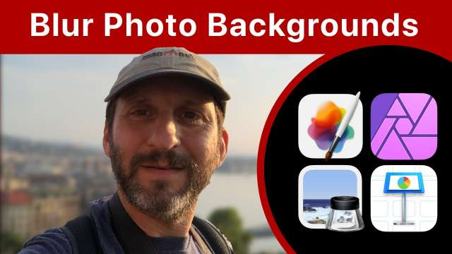 How To Blur the Background Of a Photo On a Mac