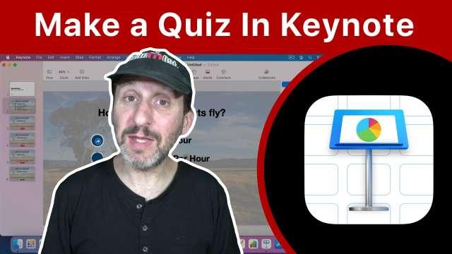 Building a Quiz With Mac Keynote