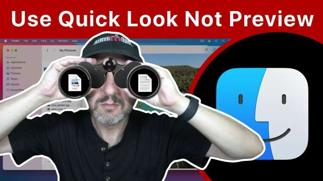 Use Quick Look Instead Of Preview To View Files