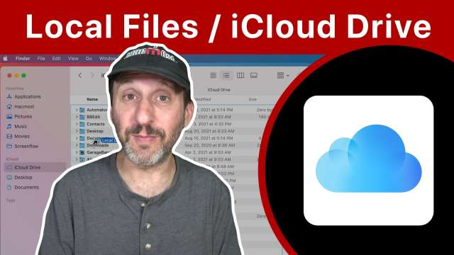 Storing Files Locally When Using iCloud Drive