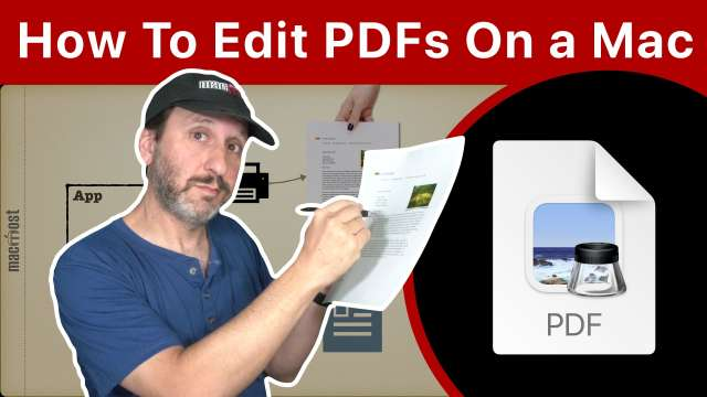 Why You Can't Edit PDF Files In Mac Preview