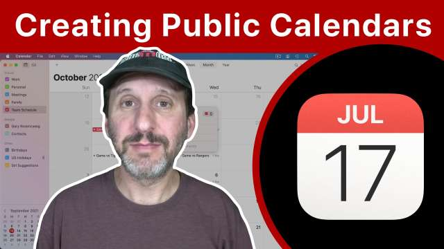 How To Create and Share Public Calendars From Your Mac