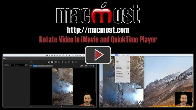 Rotate Video In iMovie and QuickTime Player