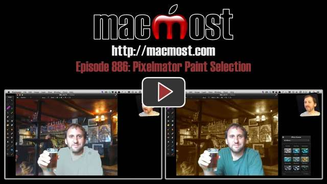 MacMost Now 886: Pixelmator Paint Selection