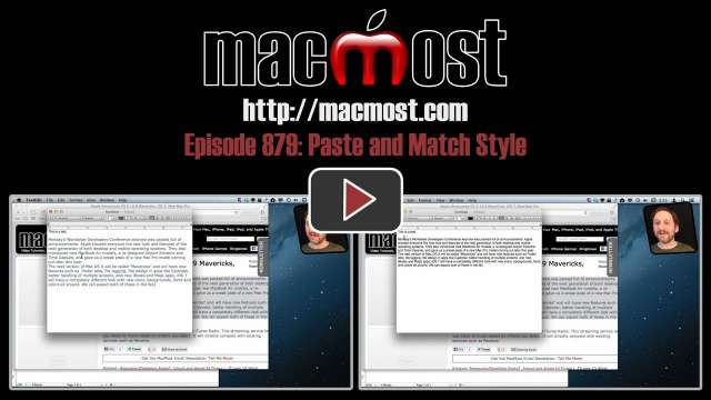 MacMost Now 879: Paste and Match Style