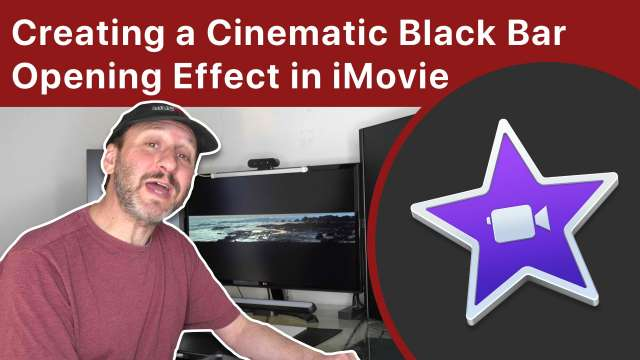 Creating a Cinematic Black Bar Opening Effect in iMovie