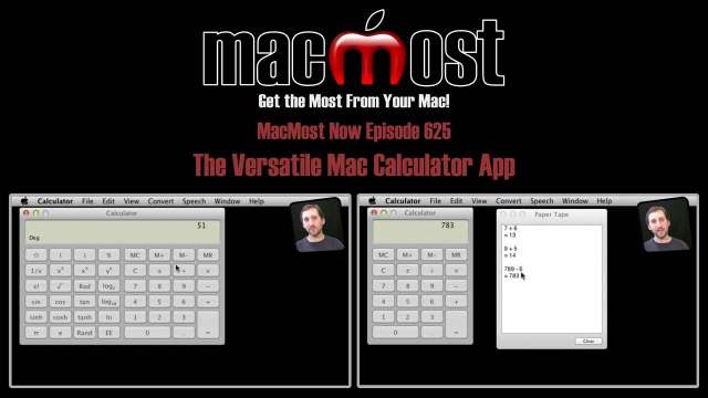 MacMost Now 625: The Versatile Mac Calculator App