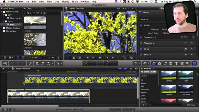 MacMost Now 593: Layering Video in Final Cut Pro X