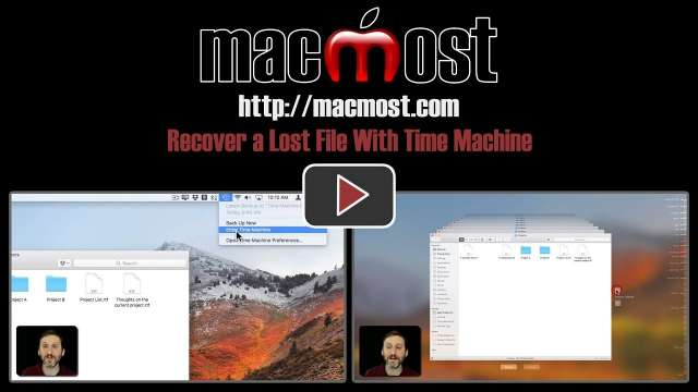 Recover a Lost File With Time Machine