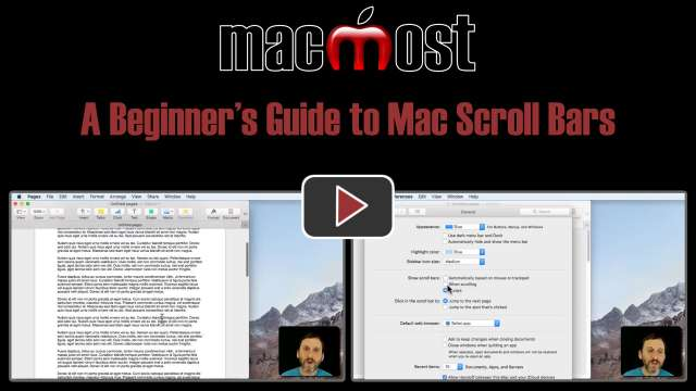 A Beginner's Guide to Mac Scroll Bars