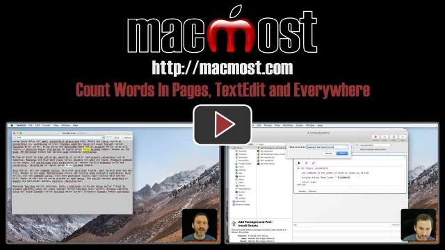 Count Words In Pages, TextEdit and Everywhere