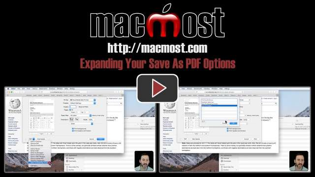 Expanding Your Save As PDF Options
