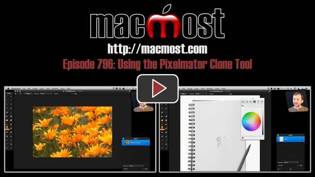 MacMost Now 796: Using the Pixelmator Clone Tool