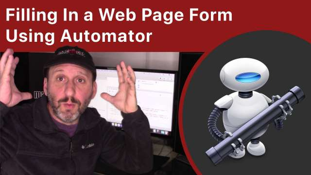 Filling In a Web Page Form Using Automator