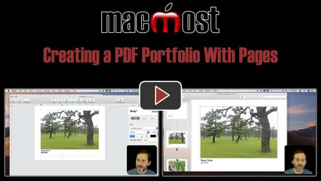 Creating a PDF Portfolio With Pages