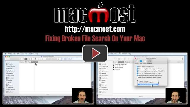Fixing Broken File Search On Your Mac