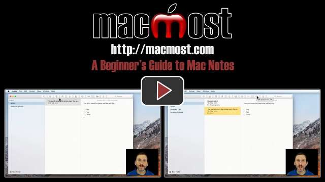 A Beginner's Guide to Mac Notes