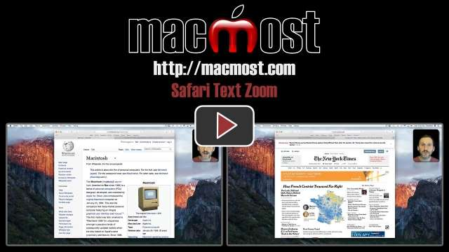 Safari Text Zoom